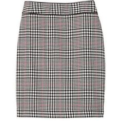 Banana Republic Women Plaid Pencil Skirt (2.250 RUB) ❤ liked on Polyvore featuring skirts, above the knee skirts, plaid skirt, banana republic, tartan pencil skirt and zip back pencil skirt