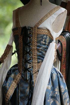 Renaissance Costume 12 by sd-stock on DeviantArt Mode Renaissance, Renaissance Fair Costume, Medieval Costume, Renaissance Fashion, Renaissance Clothing, Medieval Dress, Historical Costume, Historical Clothing, Boho Hippie