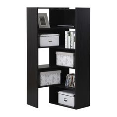 The Expandable Shelving Unit from Homestar is a contemporary piece with an eye-catching design. Accessible open storage provides ample room for displaying. Corner Storage Shelves, Corner Bookshelves, Bookcase Storage, Tall Cabinet Storage, Locker Storage, Bookcases, Shelving Units, Corner Shelf, Book Storage