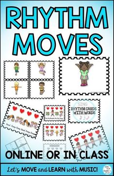 Rhythm lessons won't be the same when students MOVE and PLAY the rhythms at the same time. Great for the elementary music classroom in Centers/stations or whole class activities. Students love to MOVE and they will love playing Level 1 Rhythms by jumping, running, and freezing. Music and Movement activities help students learn music concepts as they learn to play their instruments. Best for Pre-K-3rd Grade. Kindergarten Music Lessons, Teaching Music, Music Education Activities, Movement Activities, Music And Movement, Elementary Music, Music Classroom, Music Games, Instruments