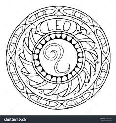 Zodiac Sign of Leo : Shutterstock 350997284