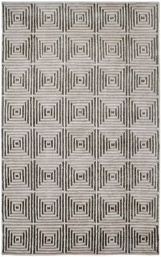 Dynamic Rugs Celeste Ivory/Silver Geometric Rectangle Area Rug