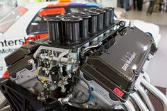 BMW V12 LMR race engine P75. Engine of the 1999 Le Mans winner BMW V12 LMR.