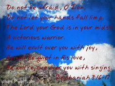Zephaniah 3: 16-17