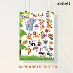 """📢📢 Poster of the Week 📢📢  """"ABC with Everyday Objects """"  A great wall decor to make children learn the English alphabet along with everyday objects."""