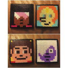 Steven Universe coasters perler beads by helenwheels