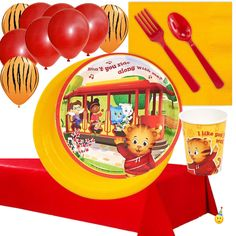Daniel Tiger Neighborhood Tableware & Deco Set - 8 Guests