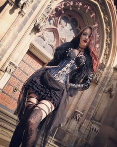 Gothic and Amazing — Corset by: Villena Viscaria Clothing Model: Miss... Gothic Steampunk, Steampunk Fashion, Victorian Gothic, Cyberpunk, Sexy Outfits, Gothic Outfits, Dark Gothic, Gothic Art, Gothic Girls