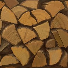 Cut wood ends texture