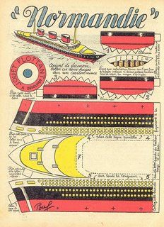 Ephemera of SS Normandie
