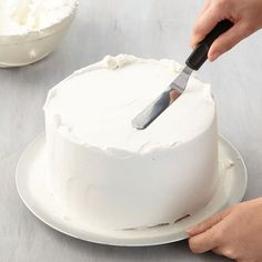 Icing a cake may look simple, but there is definitely a technique behind it. Follow these easy steps to ice a cake with a spatula and your blank cake canvas will be ready for decorating.
