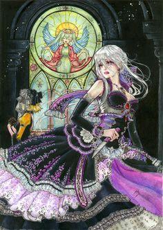 Daughter of White by ~HIsekai on deviantART Tags: Vocaloid, Yowane Haku… Haku Vocaloid, Kaito, Hatsune Miku, Servant Of Evil, Evil Anime, Vocaloid Characters, Mikuo, Harry Potter Anime, Poses References