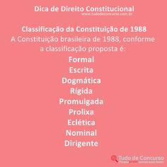 Dicas de Direito Constitucional #direito #direitoconstitucional #dicas