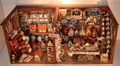 Puppenhaus-Werkstatt mit vielen Puppenhäusern,Werkbank,Puppenstuben für 1:12 | eBay
