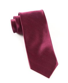 Magenta Pink Michelsons of London Mens Luxurious Paisley Tie and Pocket Square Set