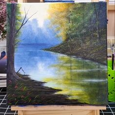 Acrylic Lanscape Painting Lesson - Morning in Lake Acrylic Lake Lanscape Lesson Morning Painting DiyAbschnitt Diy Abschnitt # Canvas Painting Tutorials, Painting Lessons, Acrylic Painting Canvas, Diy Painting, Canvas Art, Watercolor Painting, Pond Painting, Bridge Painting, Oil Painting For Beginners