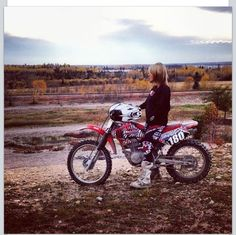 Biker girl dirt bike