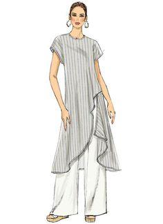 Vogue V9305 MISSES' TUNIC AND PANTS #sewingpattern   -  #tunic #tunicBlack #tunicJacket #tunicLace Vogue Patterns, Vintage Sewing Patterns, Clothing Patterns, Tunic Dress Patterns, Tunic Pattern, Free Clothes, Sewing Clothes, Fashion Sketches, Shirts