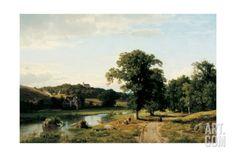 The Mill, 1852 Giclee Print by Thomas Worthington Whittredge at Art.com