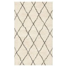 Moroccan Diamond Rug, Charcoal
