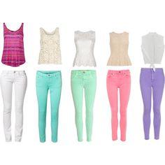 Colorful skinnies. <3