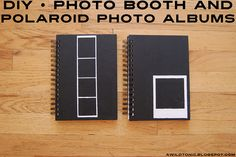 DIY • Photo Booth and Polaroid Photo Albums by awildtonic