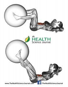 © Sasham   Dreamstime.com – Fitball exercising. Flexion of the trunk with the leg extension with ball. Female