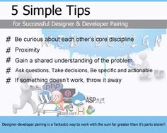 Simple tips to pair web developer & website designer for better works! Web Development Website, Application Development, It Works, Web Design, Success, This Or That Questions, Simple, Tips, Technology