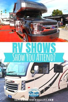 Should you attend an RV show? Find out if they are worth your time!! Get an RV show overview, advice on buying at RV shows, the best days to attend, and which are the largest RV shows out there. Tiny Camper, Rv Campers, Happy Campers, Rv Show, Small Rv, Luxury Rv, Rv Homes, Buying An Rv, Rv Organization