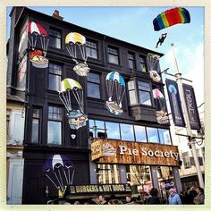 Pie Society #Brighton #UK #parachute
