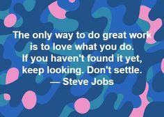 Steve Jobs on Doing Great Work