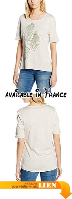 1205432 - T-Shirt - Femme, Beige (Silver Cloud Beige 2633), 42Bonita