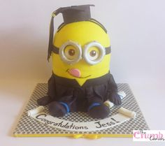 Love this Minion graduation cake! You can buy all the items you need to recreate this beautiful cake via our website sweetsuccess.uk.com/