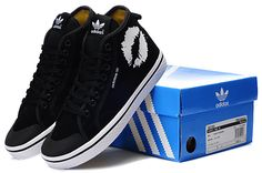 adidas shoes/ adidas high tops sneakers/ black shoes