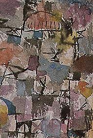 Titre de l'image : Paul Klee - Avec la rouge coupole 1914