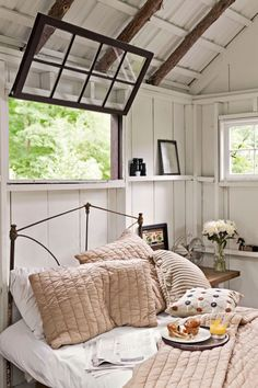 """Bring the Outside In:  Keep tones neutral and add rustic touches - €""""like pinecones and binoculars - €""""to bring a woodland theme indoors."""