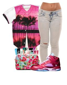 """"" by kokoshell23 ❤ liked on Polyvore featuring NIKE"