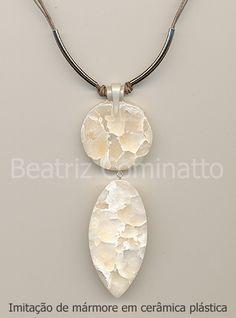 Imitação de mármore em cerâmica plástica (Polymer Clay)