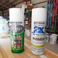 for painting ceramics... primer goes on rough, but smooths out after lacquer coat.  dry thoroughly between coats.