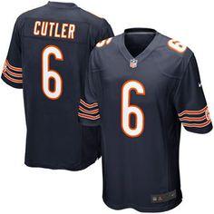 Jay Cutler Chicago Bears Nike Game Jersey - Navy Blue Amendola Jersey e8fec3f2b