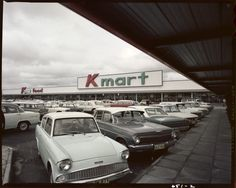 I remember when K-Mart used to be one of the main department stores to shop at. Shopping online has caused a lot of department stores to close down. Holden Australia, Victoria Australia, Old Pictures, Old Photos, The 'burbs, Shopping Places, Old Signs, Vintage Shops, Vintage Ads
