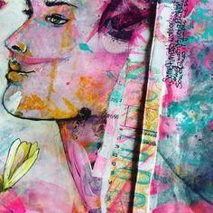 tgif 💖 wishing you a wonderful weekend 🙌 #tgif #keeponjournaling #mixedmedia #faces #femme #she #artinajournal #künstlerbuch #artjournal…