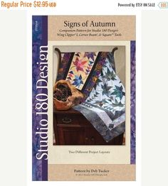 Spring Sale- Signs of Autumn Quilt Pattern - Studio 180 Design, Deb Tucker Fast Shipping PT563