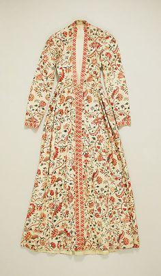 Dress Date: 18th–19th century Culture: Dutch Medium: cotton Dimensions: Length: 56 in. (142.2 cm) Credit Line: Rogers Fund, 1926
