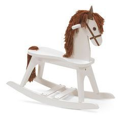 White Wooden Rocking Horse