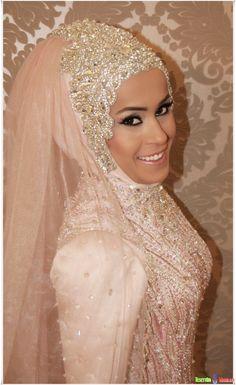 hijab, wedding http://prettyweddingidea.com/