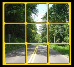 This is a picture of River Road in Berkeley Springs. It has been altered to include a window.