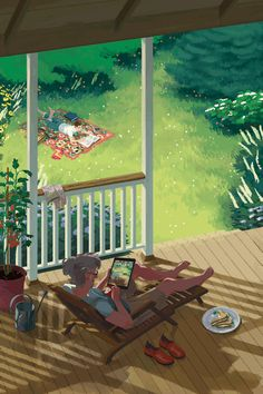 Animated artwork by Rebecca Mock  Fine, detailed and subtle animated artwork created by New York illustrator Rebecca Mock. Apparently the animated gif back to stay, gradually more and more people are exploring this old format and customers asking for shouting. Several of these illustrations were created for the New York Times or The Warlus magazine.