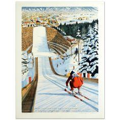 "William Nelson - ""90-Meter Ski Jump"" Limited Edition Serigraph  | eBay"