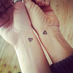 "Mother/Daughter Tattoos | The daughter wrote, ""She's the only one who has felt…"